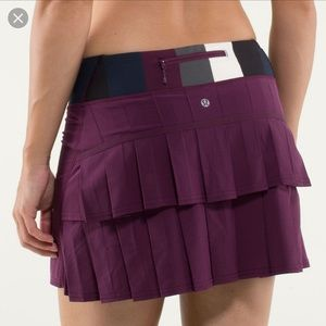 Lululemon run pace setter skirt plum